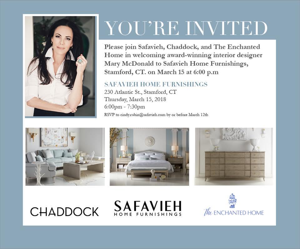 Celebrity Designer Mary McDonald at Safavieh Home Furnishings