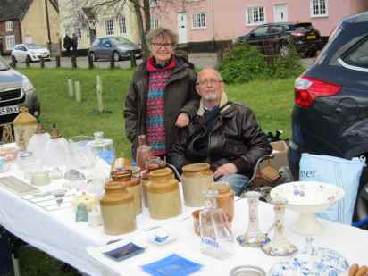 Mark and Chris, who organised the Brocante