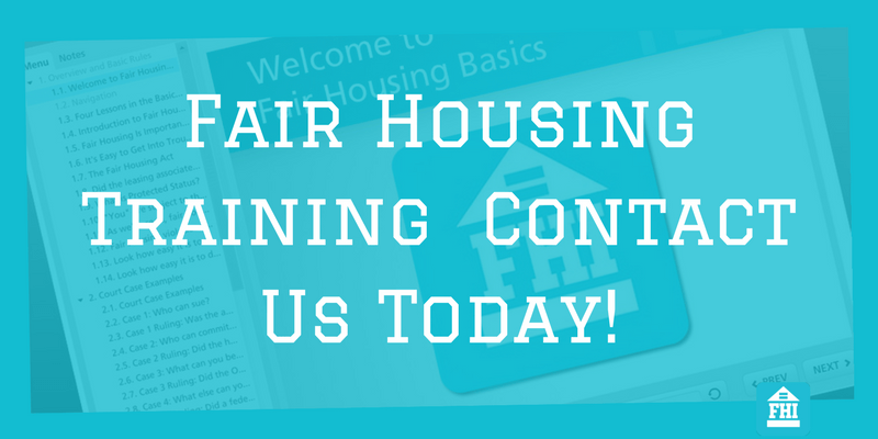 Fair Housing Training - Contact Us Today!