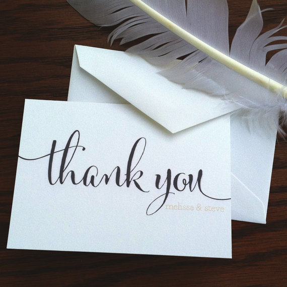 Thank You Note by VeronicaFoleyDesign via Etsy - Fairly Southern