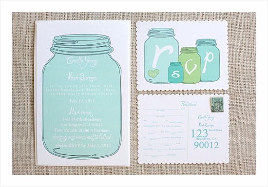 Mason Jar Invitation Suite  |  Fairly Southern