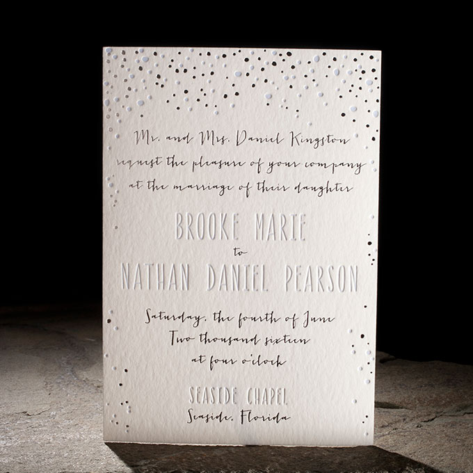 """Midi"" New Year's Eve/Winter Wedding Stationery - Fairly Southern"