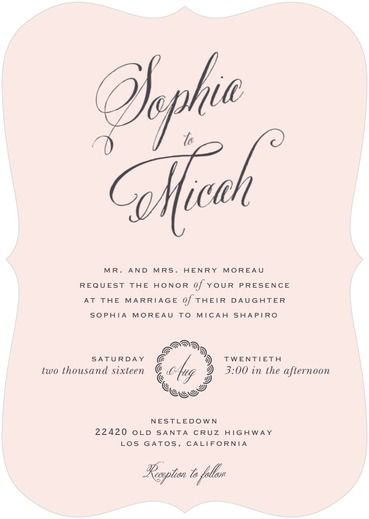 Encircled Love Wedding Invitation from the Wedding Paper Divas Southern Living Collection - Fairly Southern