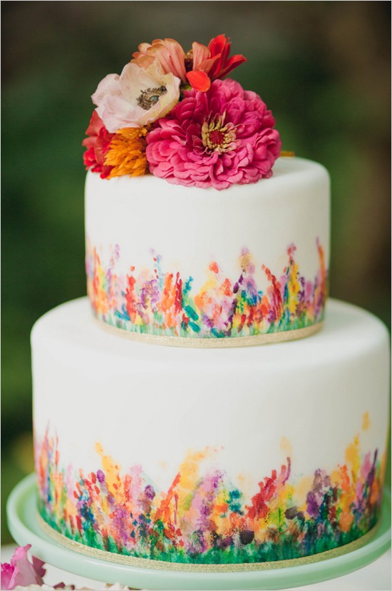 On Trend: Hand-Painted and Watercolor Wedding Cakes