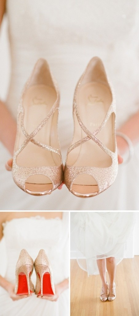 Christian Louboutin gold pumps - Fairly Southern