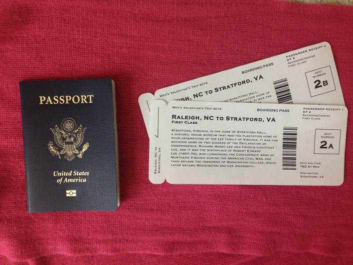 Easy, Faux Boarding Pass Gift Idea | Fairly Southern
