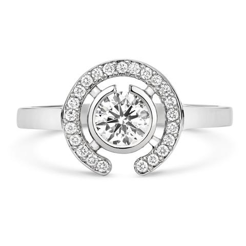Cred Jewellery Clara Halo Solitaire Engagement Ring (Fair Trade, ethically sourced, conflict free)   Fairly Southern