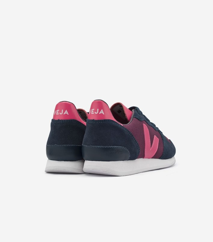 Veja Holiday Low Top Groseille Nautico Rose Fluo Fair Trade Sneakers | Fairly Southern