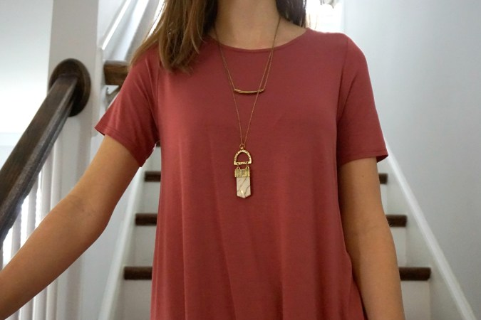 Layered amulet necklace made by fair trade artisan co-op in India | Fairly Southern