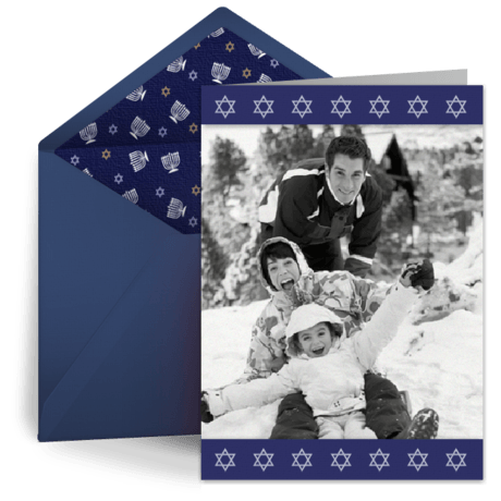 Happy Hanukkah e-card by Punchbowl   Electronic Christmas/Holiday Cards: 5 Reasons to Make the Switch!   Fairly Southern