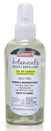 Coleman Botanicals natural insect repellant/bug spray made with oil of lemon eucalpytus  |  9 Sustainable Travel Essentials  |  Fairly Southern