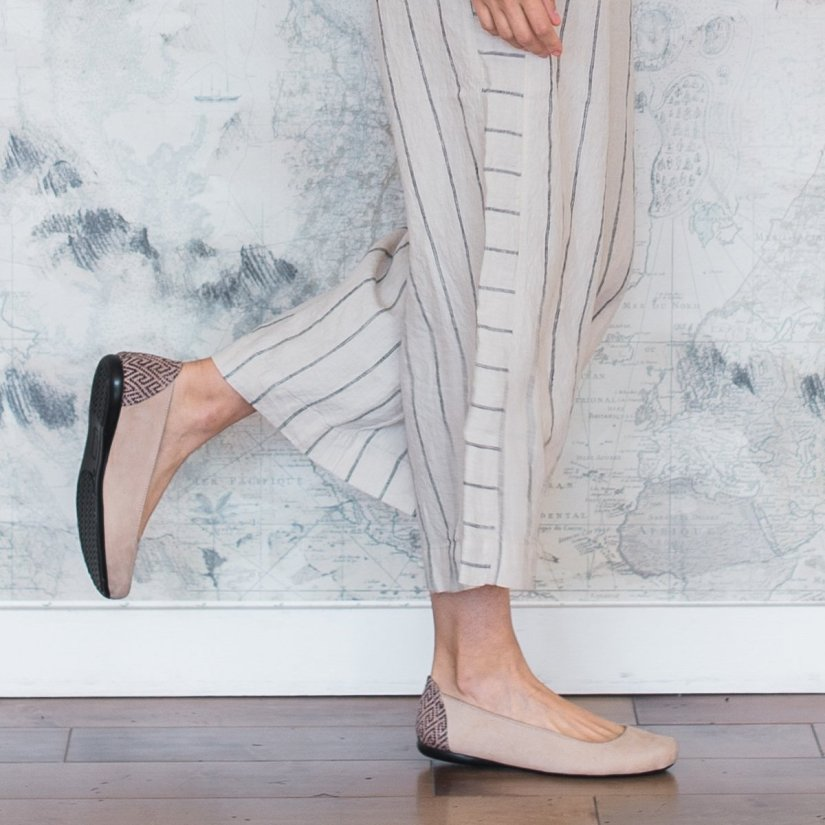 The Root Collective Gaby flat in vanilla leather  |  Ethically Made Women's Workwear Recommendations  |  Fairly Southern