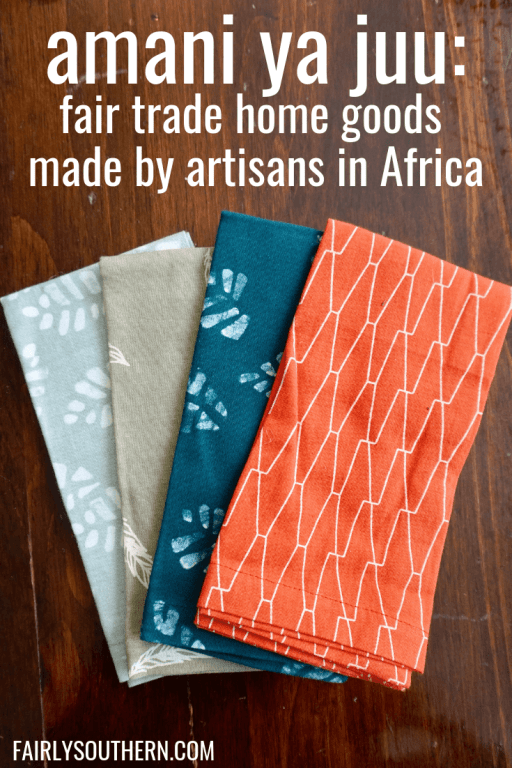 Napkin set by Amani ya Juu - fair trade home goods made by artisans in Africa  |  Fairly Southern