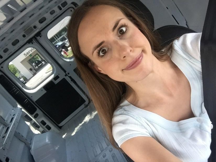 Driving a transit van     Fairly Southern