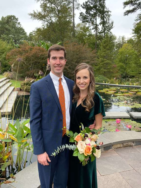 Fall wedding at Duke Gardens  |  Fairly Southern