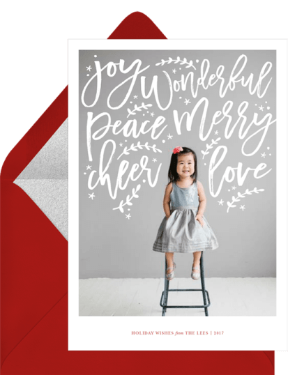 Holiday Sentiments Card by Greenvelope | 10 Gorgeous & Sustainable Holiday Greeting E-Cards | Fairly Southern