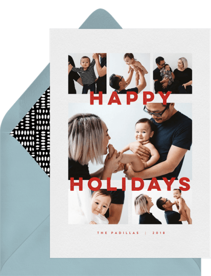 Stanza Card by Greenvelope | 10 Gorgeous & Sustainable Holiday Greeting E-Cards | Fairly Southern