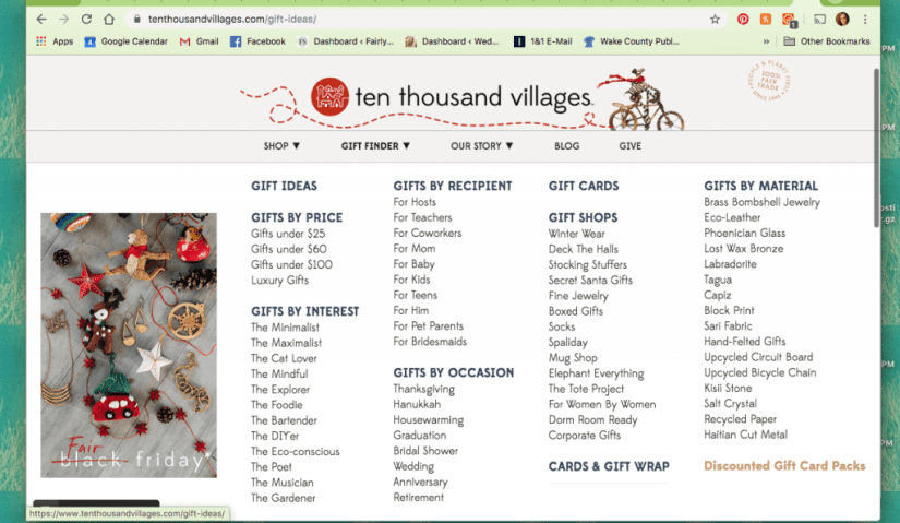 Gift Finder by Ten Thousand Villages - The Best Ethical & Sustainable Gift Guides of 2019 | Fairly Southern