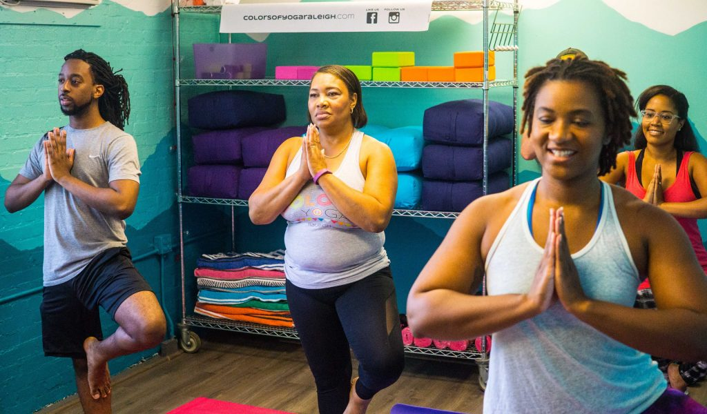 Colors of Yoga - inclusive yoga studio in downtown Raleigh, NC  |  Fairly Southern