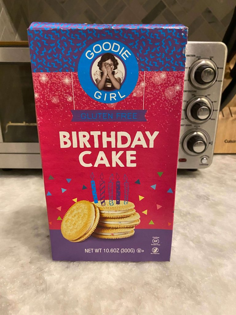 Goodie Girl Birthday Cake gluten free cookies  |  Fairly Southern