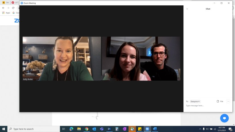 Zoom meeting with Kelly Butler of Gratify Home | Fairly Southern