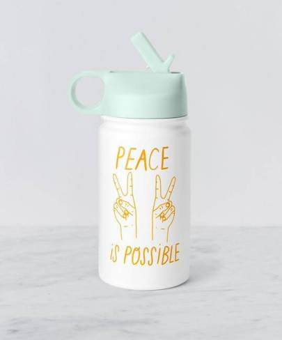 Peace Sign Reusable Water Bottle | Fairly Southern