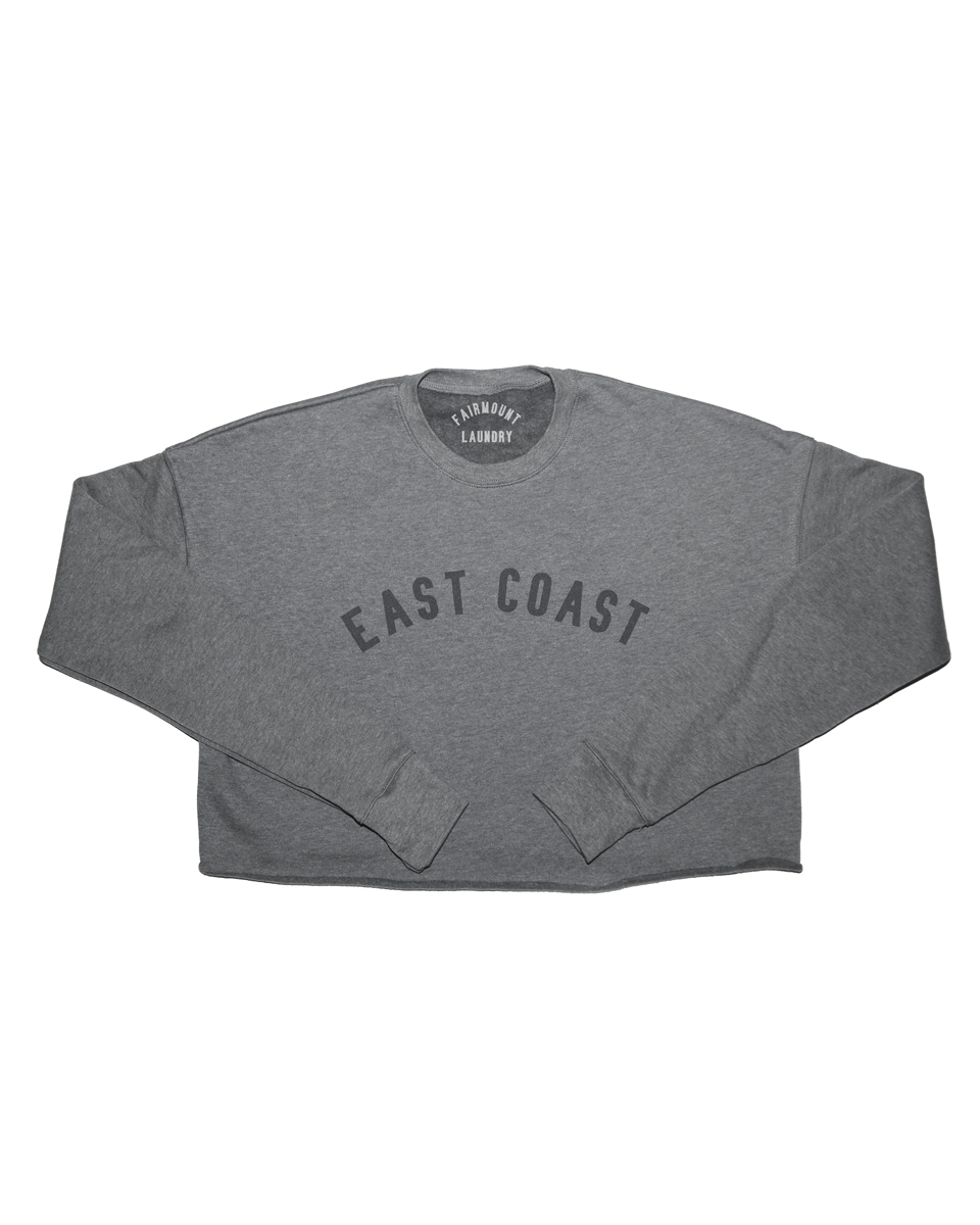 EAST COAST CROPPED SWEATSHIRT, GREY