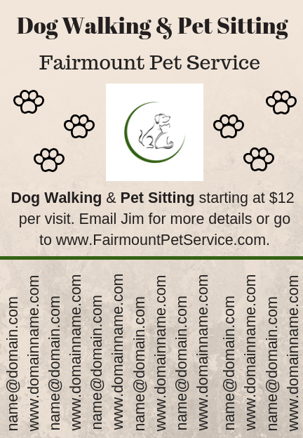 dog walker flyer template design in canva