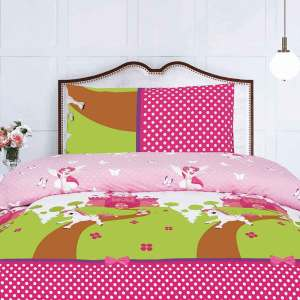 Fairy and pony kids bed sheet