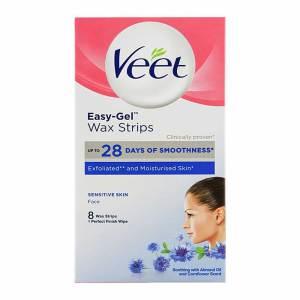 Veet Easy-Gel Sensitive Skin Face Wax Strips