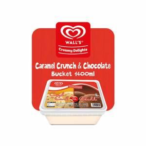 Wall's Caramel Crunch and Chocolate Tub