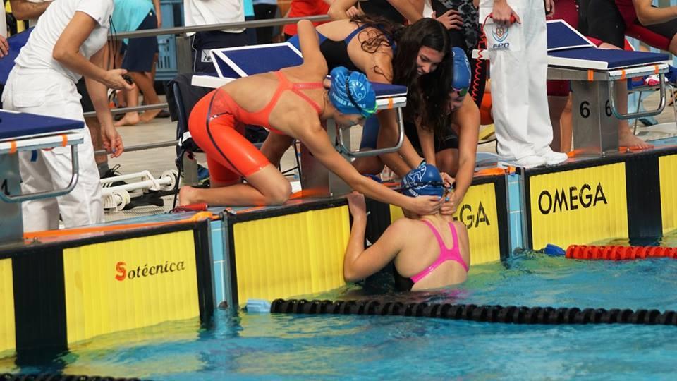 Estafeta vencedora dos 4x100 livres | Foto: Facebook Lfnunes