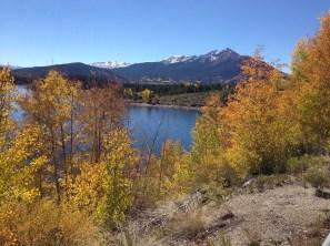 iPhone5 biking by Lake Dillon.