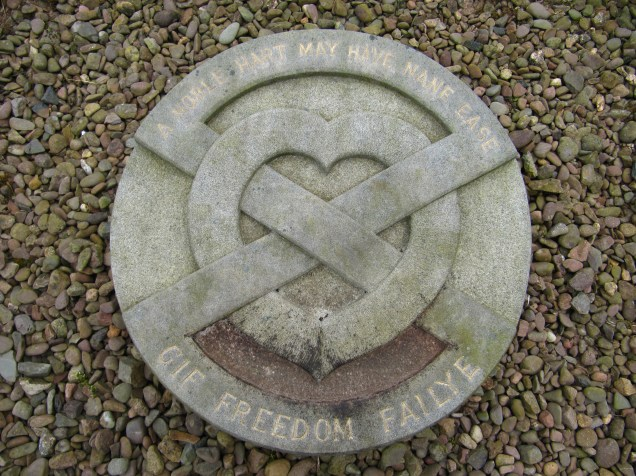 Resting place of the heart of Robert the Bruce, though no DNA testing has been done.