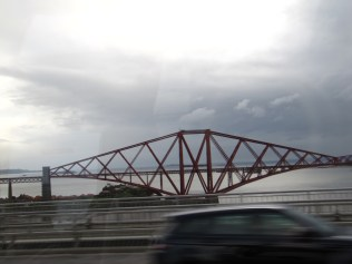The Firth of Forth railway bridge.