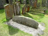 A 'hogback', Viking grave marker.