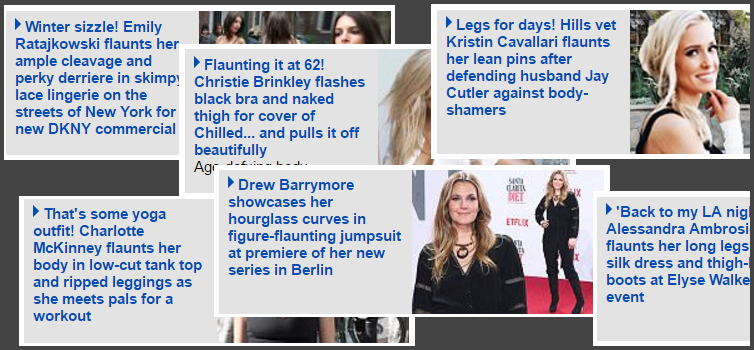 Daily Mail sidebar of shame, making sure women know they're in the wrong body.