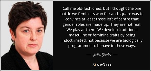Julie Bindel, gender-critical feminist author