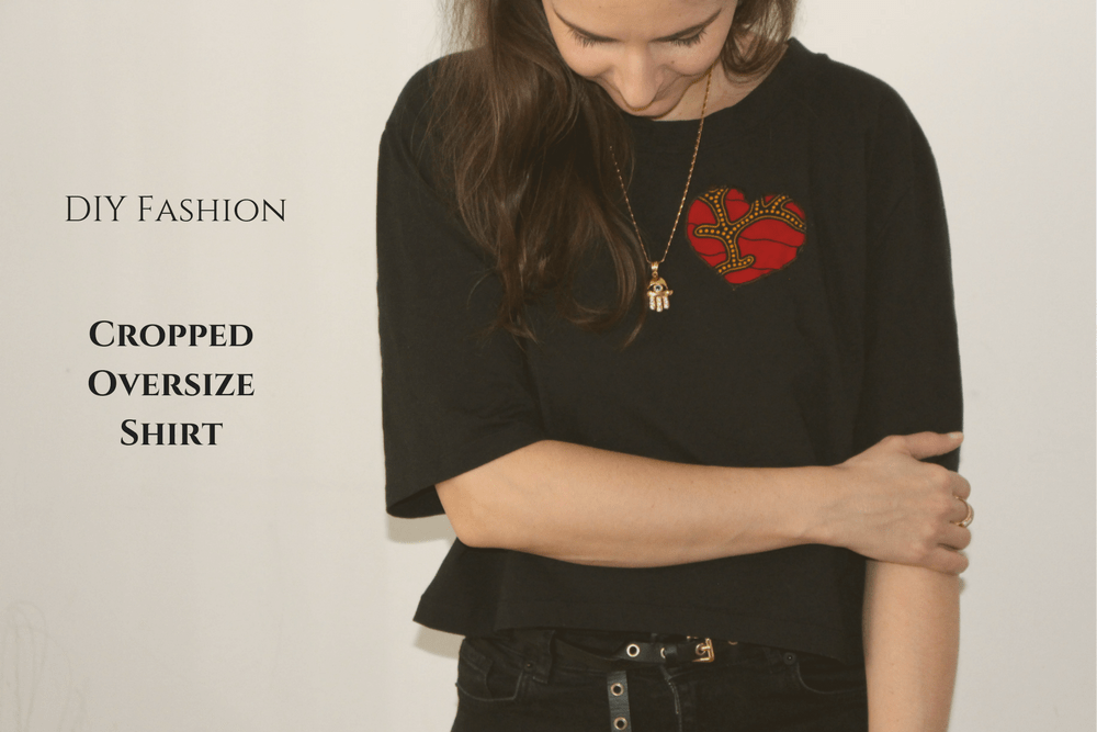 diy fashion_cropped oversize shirt vorderseite