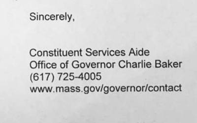 That time Governor Baker sent the worst canned response letter ever