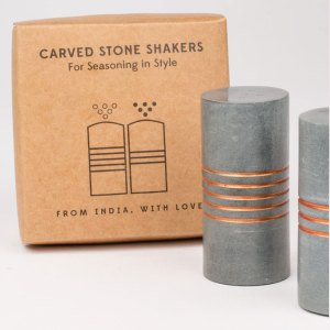 Stone Salt & Pepper Shakers