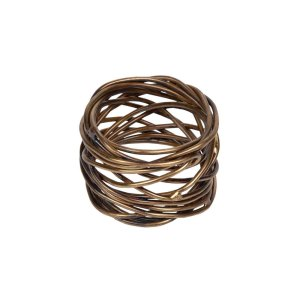 Twisted Brass Napkin Rings - Set of 4