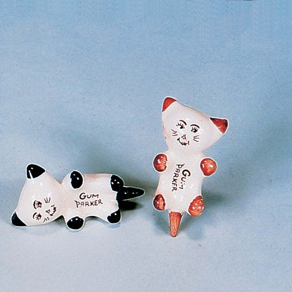 Ceramic Cat Gum Parker  2-5274