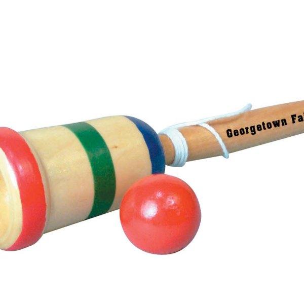 Custom Imprint Wood Cup Catch Ball Game 3-3689-DI