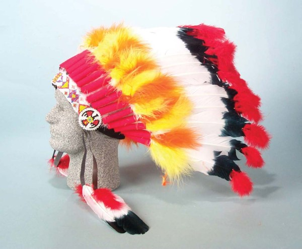 Colorful Ceremonial Headdress. 2 Assorted Styles.   6-1021