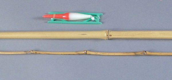 2 piece Bamboo Fishing Pole Set   6-2
