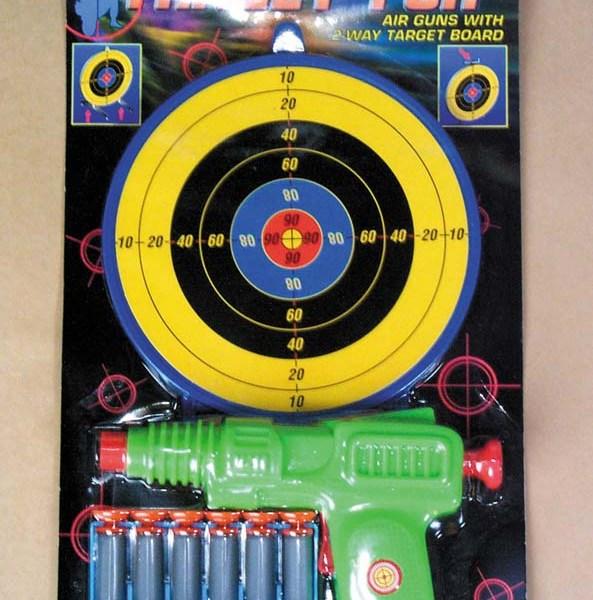 Air Gun with 6 Darts and Target   7-957
