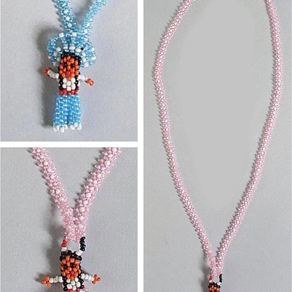 Boy/Girl Pearlized Beaded Necklaces