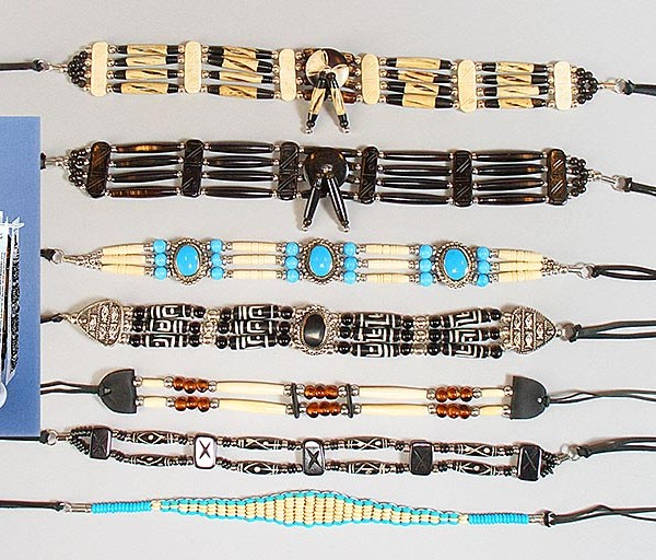Native American Bone Chokers