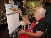 Painting LIVE artist Carol Thompson.